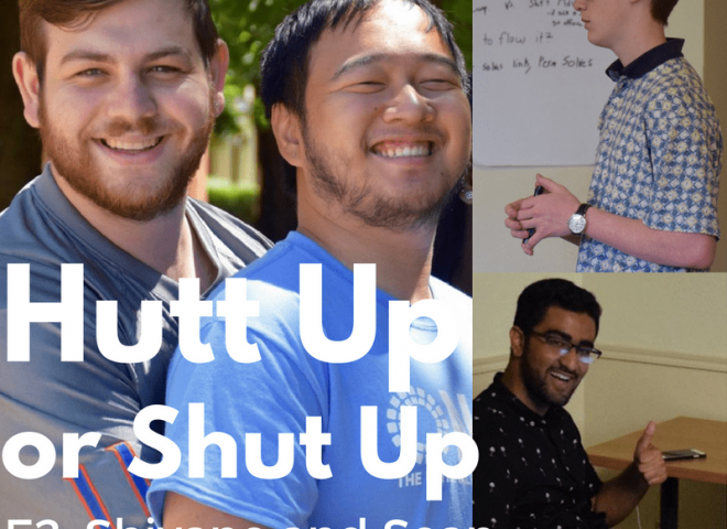Hutt Up or Shut Up Episode 2 with Guests Shivane Sabharwal and Sean McCormick