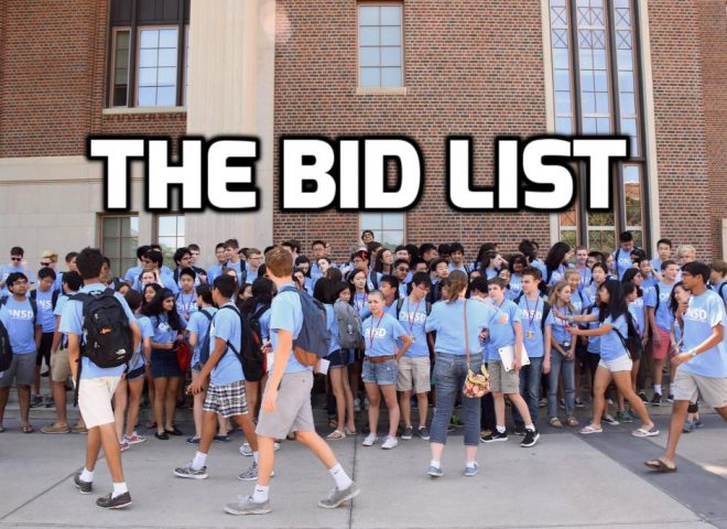 The 2016 Bid List (St. Mark's/Bronx)