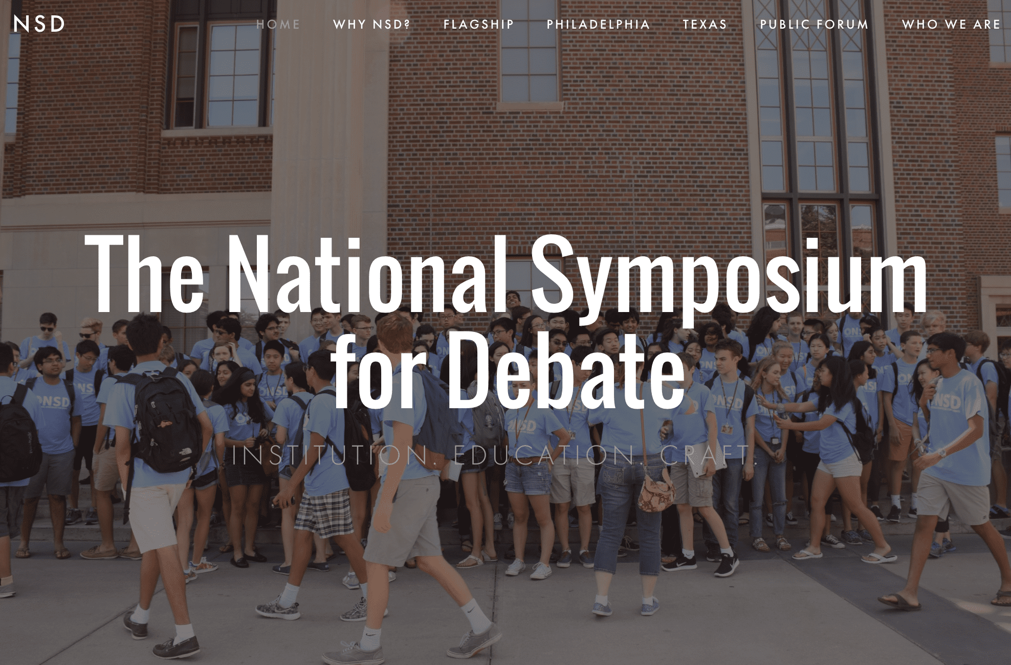 The National Symposium for Debate Announces Summer 2017 Dates