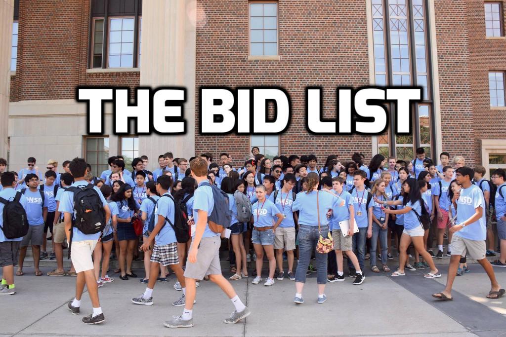 The 2016-2017 Bid List (USC, SWDI)